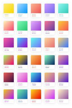 trending Coolhue – Gradient Palette for Sketch Acne and Teenaged Psychology Article Body: When you l Neon Colour Palette, Gradient Color, Ui Color, Pastel Palette, Pastel Colors, Colours, Interaktives Design, Web Design Color, Flat Design