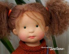 Купить Оливия с куколкой, 42 см вальдорфская кукла ООАК - оливковый, вальдорфская кукла
