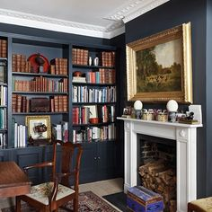 Living Room Bookcase - Traditional Victorian Town House