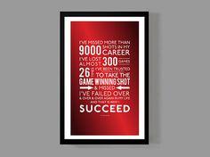 Michael Jordan Quote affiche et c'est pourquoi je