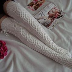 Thigh High Socks, Knee Socks, Thigh Highs, Cable Knit Socks, Winter Christmas Gifts, Winter Socks, Winter Springs, Season Colors, Hand Knitting