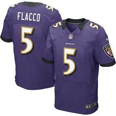 NFL NIKE Baltimore Ravens http://#5 Joe Flacco Purple Mens Elite Jersey$129.99