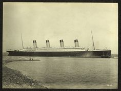 """Titanic moored off County Down coast,"" c.1912"