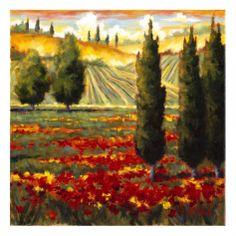 Tuscany in Bloom III Giclee Print by J.m. Steele at Art.com