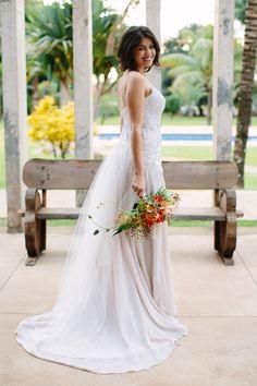 Vestido de Noiva Julia Pak  estilo boho. #noivasemny #juliapak #estiloboho