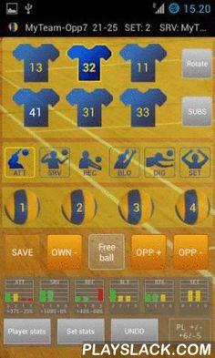 Ultimate Volley Stats DEMO  Android App - playslack.com , UltimateVolleyStats - the most complete volleyball statistics combined with the easiest input available!This is DEMO-version (data-transfers and some edit-functions disabled), Full- and Lite-versions available.Minimum screen resolution of the device is 480x800.Get your volleyball stats to the new level and record all the desired performances of your volleyball-teams with the UltimateVolleyStats (UVS) for Android-devices. Smart…