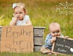Cute sibling photo omg love it !!!!! That would so be Emma