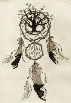 I like the idea of incorporating the Celtic tree of life into the dream catcher