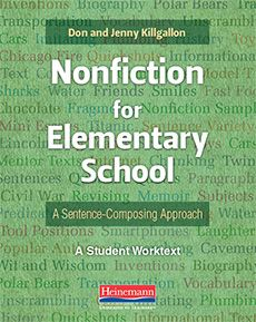 Nonfiction for Elementary School: A Sentence-Composing Approach Good Sentences, Complete Sentences, Subject And Predicate, Good Readers, Mentor Texts, Confidence Building, Book Format, Reading Skills, Student Learning