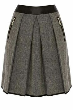 Warehouse Contrast waistband tweed skirt Black - House of Fraser Dress Skirt, Dress Up, Pleated Skirt, Tweed Skirt, Cute Skirts, Fashion Outfits, Womens Fashion, African Fashion, Dress To Impress