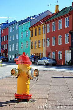Colorful down town Reykjavik, Iceland  © Barbara Helgason
