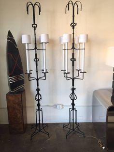 Tommi Parzinger Magnificent Iron Floor Lamps 2