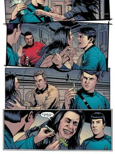 "Star Trek - Episode 14  ""Kirk gets a shock from his distant pass as the Enterprise attempts to stop the infestation on Deneva!""  #idw #startrek #trekkies #madefire #motionbooks"