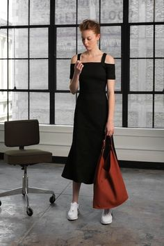 Photos via: Vogue If you love wearing sneakers as much as we do, keep reading! Check out these 3 inspiring looks from the A.L.C. Pre-Fall 2016 collection which show us how to wear three different dres