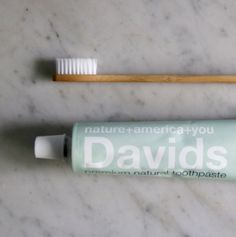 Davids natural zero waste toothpaste, packaged in a recyclable metal tube instead of plastic | Litterless