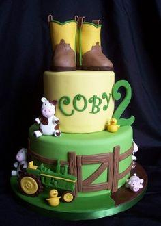 John Deere/farm cake by evangeline