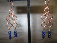 Lapis and Copper Earrings (2-184)