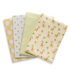 Kids Line™ Giraffe Yellow Receiving Blankets (Set of 4) OMG so cute :D