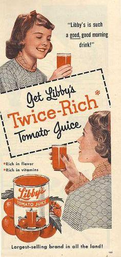Vintage 1950s ads | Vintage Food Advertisements of the 1950s