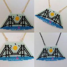 """67 Beğenme, 7 Yorum - Instagram'da Supertakilar (@supertakilar): """"İstanbul Konsepti - FSM Köprüsü Designed by @supertakilar Kendi tasarımım.. #miyuki #handmade #istanbul #istanbulköprüsü #fsm #köprü #bridge #supertakilar #kolye #necklace"""