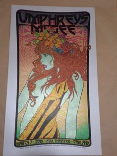 CHUCK SPERRY UMPHREY'S MCGEE poster OAKLAND FOX THEATER Print WSP not LA or 2014 #UrbanArt