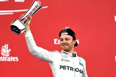 Nico Rosberg put some breathing room between himself and Lewis Hamilton in the standings with his Baku win but is refusing to get carried away. Ranger, Nico Rosberg, Lewis Hamilton, Ubs, Formula One, Baseball Cards, Sports, Formula 1, Messages