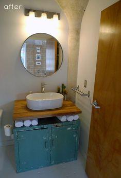 bathroom reno, via Designsponge