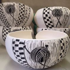 Cambria yarn bowls! Getting the last order completed for Ball & Skein. These are part of a group to be glazed. So happy with them! Soon available at Ball & Skein in Cambria, Ca
