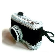 Crochet Camera. I looked and looked and can't find the knitter or pattern for this cool camera. If anyone recognizes it give a shout out.