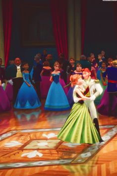 I don't like Anna and Hans but I saw this picture and it looks so pretty I just had to pin it