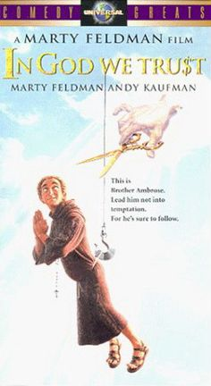 File:In god we trust film cover. Marty Feldman, Andy Kaufman, Peter Boyle, In God We Trust, Comedy Films, Satire, Getting Old, Read More, Cinema