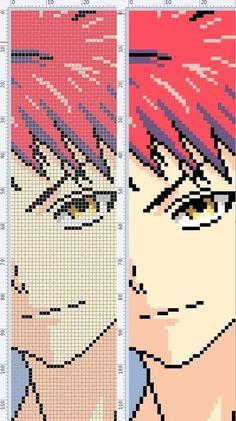 Cross Stitch Embroidery, Embroidery Patterns, Cross Stitch Patterns, Itachi, Brick Store, Modele Pixel Art, Pixel Art Grid, Anime Crafts, Anime Pixel Art