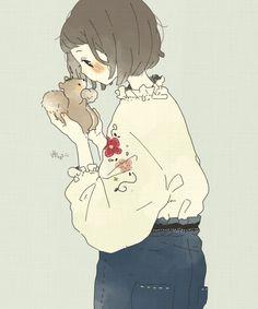 Art And Illustration, Illustrations And Posters, Kawaii Cute, Kawaii Girl, Anime Art Girl, Manga Girl, Fanarts Anime, Cute Anime Character, Cute Funny Animals