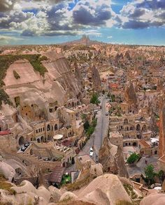 Old shaped beautiful City Cappadocia, Turkey l Places to visit l Travel destination l Tourism Places Around The World, The Places Youll Go, Places To See, Beautiful Places To Visit, Wonderful Places, Amazing Places, Amazing Photos, Turkey Photos, Pamukkale