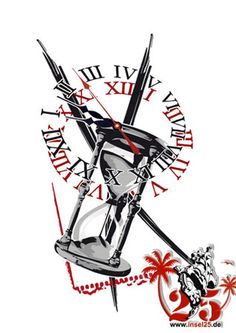 Been searching for a tattoo design that incorporates 2 clocks.  Something similar to this could work.