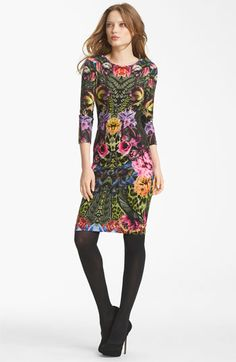 Roberto Cavalli Flower Print Jersey Dress available at #Nordstrom