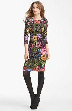 Roberto Cavalli Flower Print Jersey Dress | Nordstrom