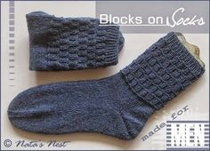 Natas Nest: Blocks on Socks – Free Pattern / Gratis Socken-Anl...