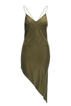 Moss green asymmetric dress | #HMStudioAW14