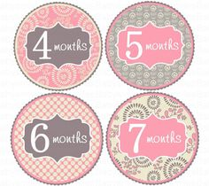★★★ FREE GIFT ~ 4 BONUS STICKERS ~ LIMITED TIME OFFER!! ★★★    For a limited time, we will include a FREE SET of JUST BORN, 1 week, 2 weeks