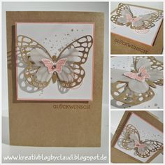 Butterfly greeting in Craft Bee Cards, Die Cut Cards, Graduation Cards, Butterfly Cards, Paper Cards, Stamping Up, Scrap, Making Ideas, Cardmaking