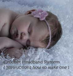 INSTANT DOWNLOAD Crochet Baby Photo Prop Headband Pattern -- PDF 205 -- Best for Fine Yarn with Mohair Content