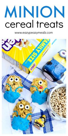 Minion Cereal Treats - Eazy Peazy Mealz #AD #THE7THMINION #COLLECTIVEBIAS