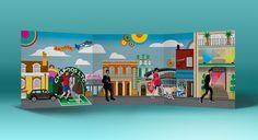 Joseph's Bar Mitzvah invite #invite #invitation #party #illustration #colour #drawing #football #guitar #design #houseofdbdesign #bespoke #personalized #personalised #unique #graphicdesign #streets