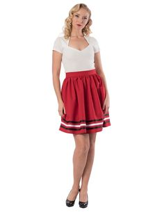 510aa99bb4cb8 High Tide Gathered Skirt in Red