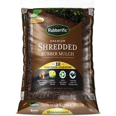 Rubberific 0.8-cu Ft Dark Brown Shredded Rubber Mulch (playground Certified)…