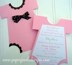 baby shower homemade invitations | diy baby shower invitations | Funsie Onesie ... | Homemade baby showe ...