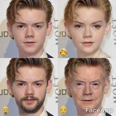 honestly i think he'll be so old and then dead before he can become that old man on the right below Maze Runner Funny, Newt Maze Runner, Thomas Brodie Sangster, Tbs, Movies And Tv Shows, Movie Tv, Harry Potter, Cinema, Fandoms