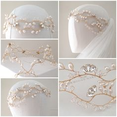 Hermione Harbutt bespoke Gini Garland in Gold wire with double front strand. http://www.hermioneharbutt.com/wedding/hair_accessories/buy.php?Product=345&Title=Gini+Garland