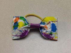 Duct Tape Paint Splatter Hair Bow